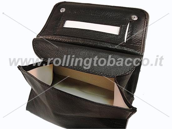 Porta tabacco brebbia a sacchetto in pelle rolling tobacco - Porta tabacco pipa ...